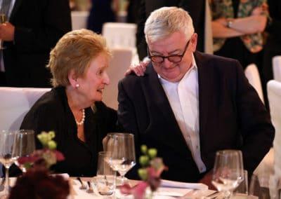 Joschka Fischer mit Madeleine K. Albright bei der Aspen Gala