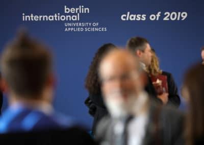 Abschlussfeier des Absolventenjahrgangs 2019 der Berlin International University of Applied Sciences