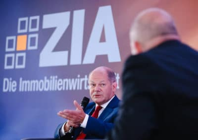 Vizekanzler und Bundesminister für Finanzen, Olaf Scholz auf dem Tag der Immobilienwirtschaft 2020