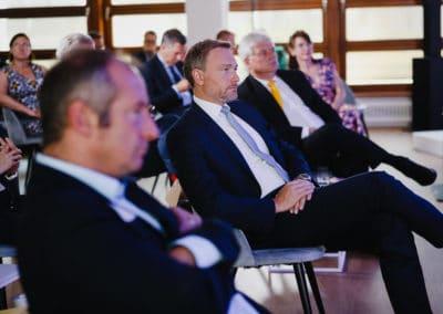 Publikum mit Christian Lindner, Vorsitzender der FDP