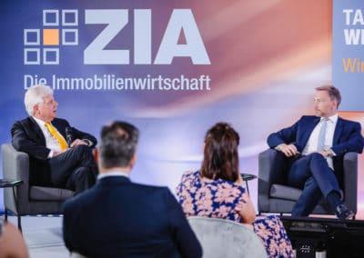 Christian Lindner und Dr. Andreas Mattner im Podiumsgespräch