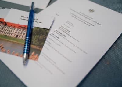 Programm zum Gründungsfestakt in Neustrelitz