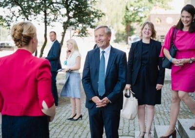 Begrüßung der Bundesministerin für Familie, Senioren, Frauen und Jugend, Dr. Franziska Giffey in Neustrelitz