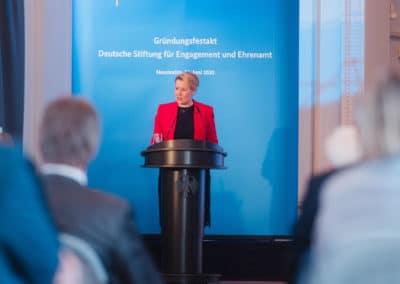 Bundesministerin für Familie, Senioren, Frauen und Jugend, Dr. Franziska Giffey