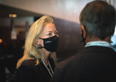 Get Together mit Masken, Kongress in Berlin