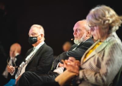 Hans Werner Sinn im Publikum, ifo-Präsident