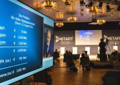 Hans Werner Sinn beim RESTART Kongress